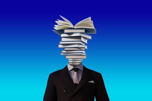 knihy místo hlavy